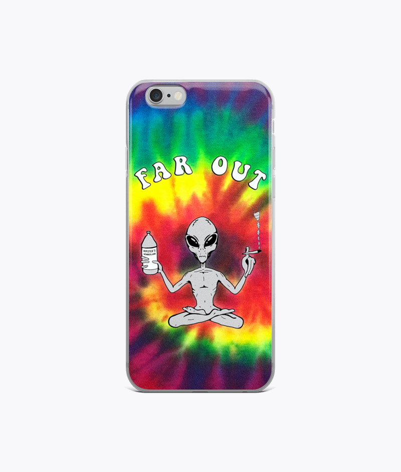 Far Out Alien (Tie Dye) Clear iPhone Case - Hipsters Wonderland - Tumblr Clothing - Tumblr Accessories- Aesthetic Clothing - Aesthetic Accessories - Hipster's Wonderland - Hipsterswonderland