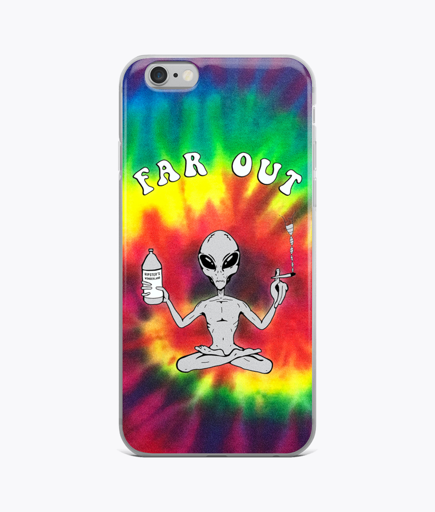Far Out Alien (Tie Dye) iPhone Cases - Hipsters Wonderland - Tumblr Clothing - Tumblr Accessories- Aesthetic Clothing - Aesthetic Accessories - Hipster's Wonderland - Hipsterswonderland
