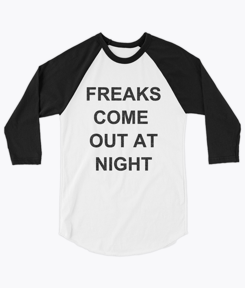 Freaks Unisex Raglan - Hipsters Wonderland - Tumblr Clothing - Tumblr Accessories- Aesthetic Clothing - Aesthetic Accessories - Hipster's Wonderland - Hipsterswonderland