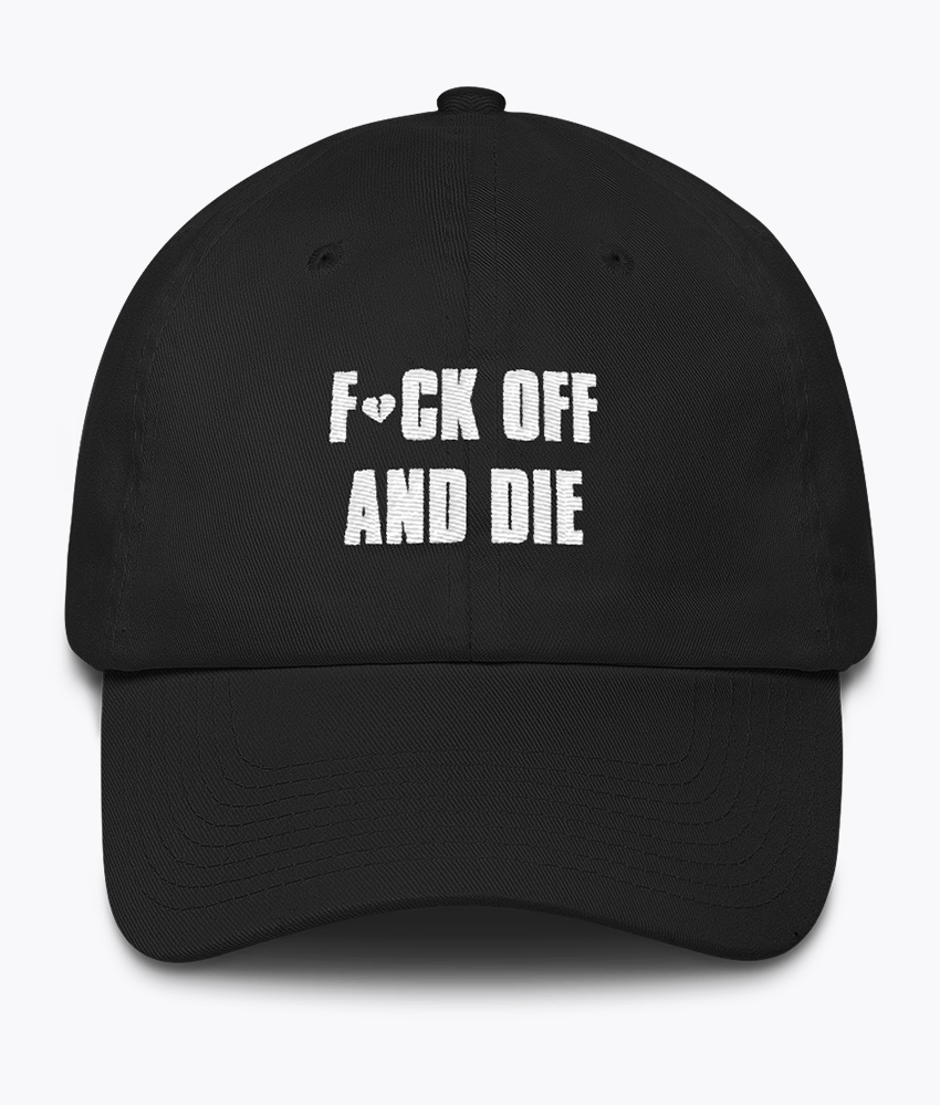 Fuck OFF Dad Hat - Hipsters Wonderland - Tumblr Clothing - Tumblr Accessories- Aesthetic Clothing - Aesthetic Accessories - Hipster's Wonderland - Hipsterswonderland