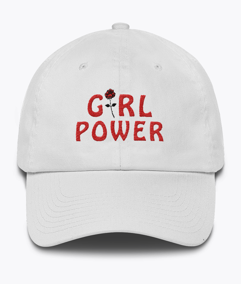 Girl Power Dad Hat - Hipsters Wonderland - Tumblr Clothing - Tumblr Accessories- Aesthetic Clothing - Aesthetic Accessories - Hipster's Wonderland - Hipsterswonderland