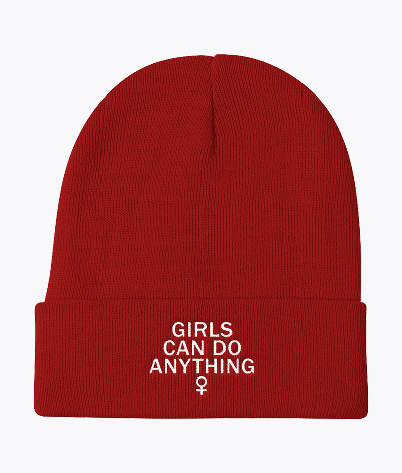 Girls Can Do Anything Knit Beanie - Hipsters Wonderland - Tumblr Clothing - Tumblr Accessories- Aesthetic Clothing - Aesthetic Accessories - Hipster's Wonderland - Hipsterswonderland