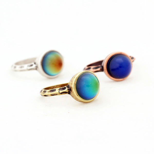 Mood Ring [Round] Bronze - Hipsters Wonderland - Tumblr Clothing - Tumblr Accessories- Aesthetic Clothing - Aesthetic Accessories - Hipster's Wonderland - Hipsterswonderland