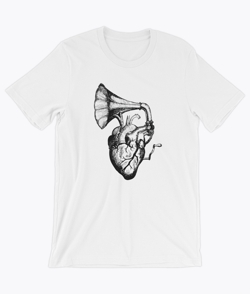 Heart Speaks T-Shirt - Hipsters Wonderland - Tumblr Clothing - Tumblr Accessories- Aesthetic Clothing - Aesthetic Accessories - Hipster's Wonderland - Hipsterswonderland