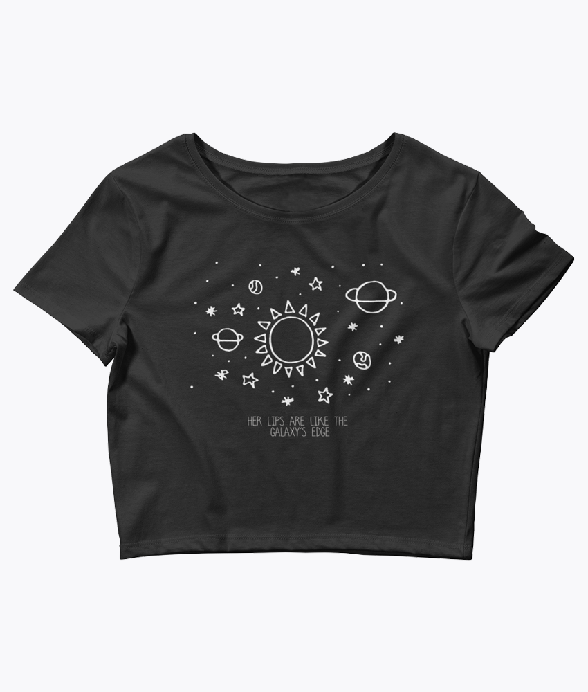 Her lips are like the Galaxy's edge Crop Tee - Hipsters Wonderland - Tumblr Clothing - Tumblr Accessories- Aesthetic Clothing - Aesthetic Accessories - Hipster's Wonderland - Hipsterswonderland