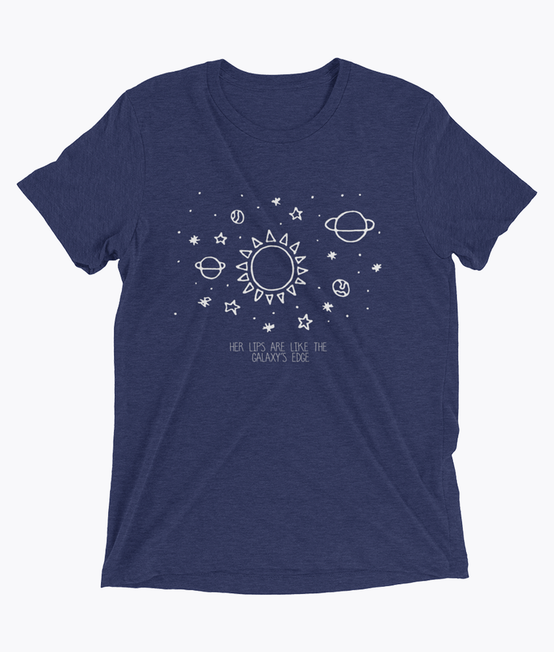 Her lips are like the Galaxy's edge Tri-Blend T-Shirts - Hipsters Wonderland - Tumblr Clothing - Tumblr Accessories- Aesthetic Clothing - Aesthetic Accessories - Hipster's Wonderland - Hipsterswonderland