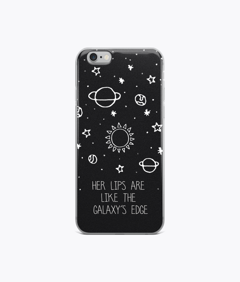 Her lips are like the Galaxy's edge iPhone Cases - Hipsters Wonderland - Tumblr Clothing - Tumblr Accessories- Aesthetic Clothing - Aesthetic Accessories - Hipster's Wonderland - Hipsterswonderland