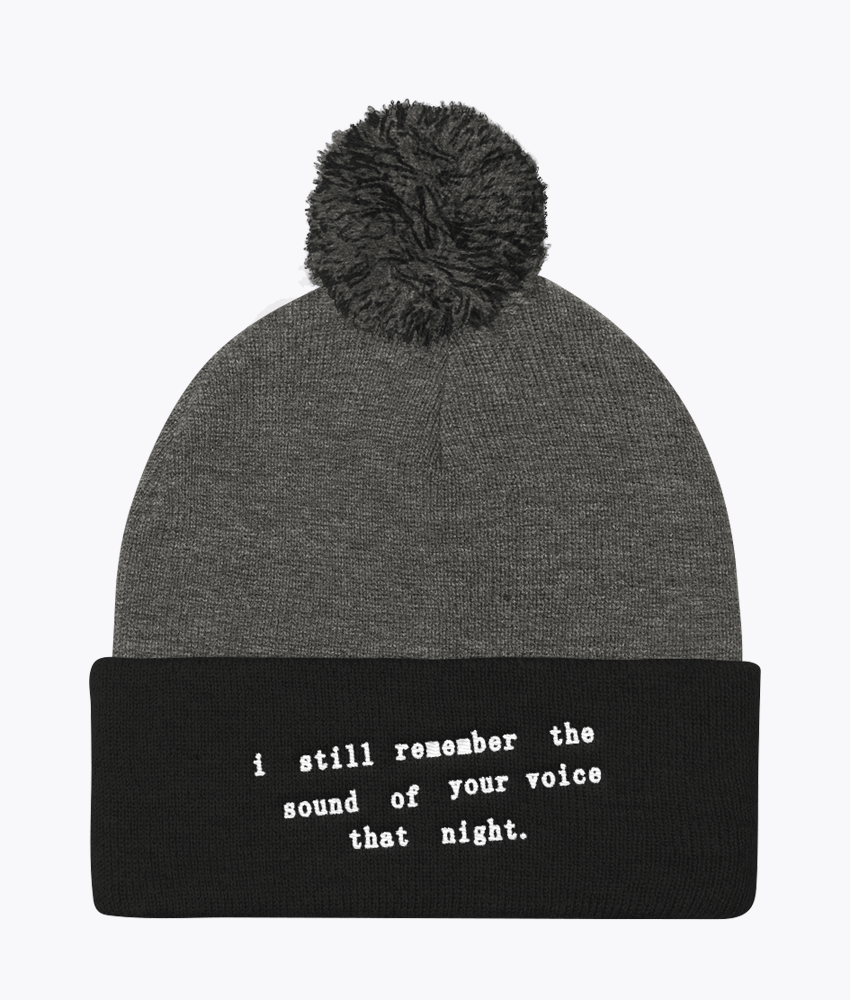 I Still Remember Pom Pom Beanie - Hipsters Wonderland - Tumblr Clothing - Tumblr Accessories- Aesthetic Clothing - Aesthetic Accessories - Hipster's Wonderland - Hipsterswonderland
