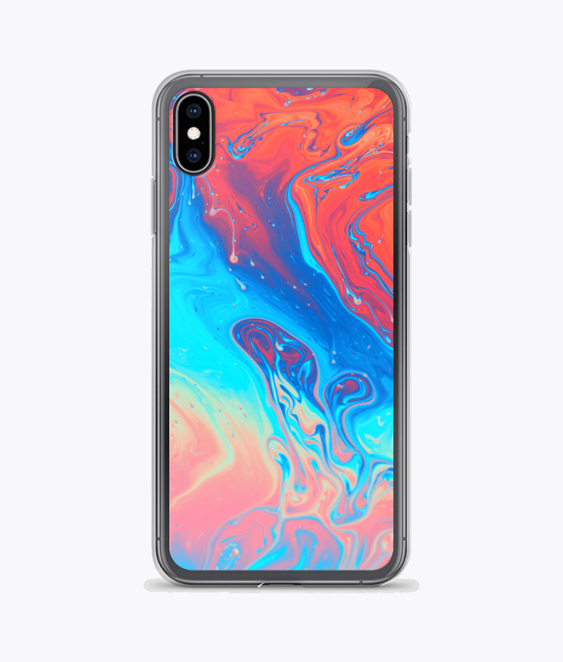 Far Out Alien (Tie Dye) Clear iPhone Case
