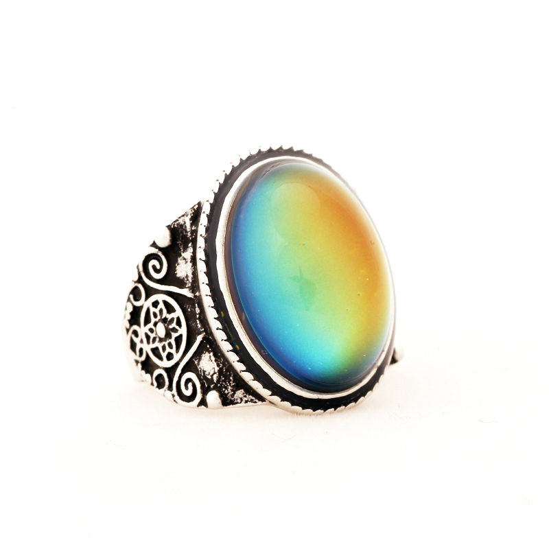 Mood Ring [Vintage] Silver - Hipsters Wonderland - Tumblr Clothing - Tumblr Accessories- Aesthetic Clothing - Aesthetic Accessories - Hipster's Wonderland - Hipsterswonderland