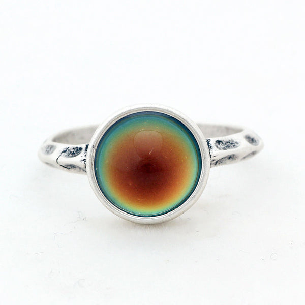 Mood Ring [Round] Silver - Hipsters Wonderland - Tumblr Clothing - Tumblr Accessories- Aesthetic Clothing - Aesthetic Accessories - Hipster's Wonderland - Hipsterswonderland