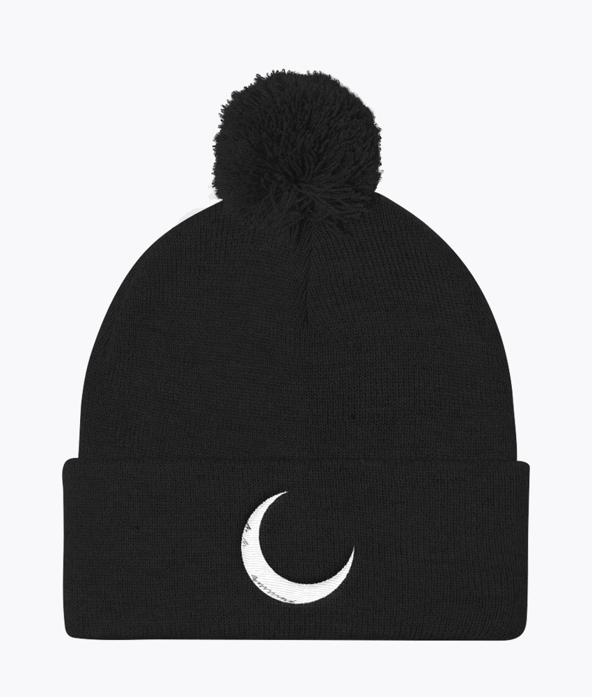 Night Pom Pom Beanie - Hipsters Wonderland - Tumblr Clothing - Tumblr Accessories- Aesthetic Clothing - Aesthetic Accessories - Hipster's Wonderland - Hipsterswonderland