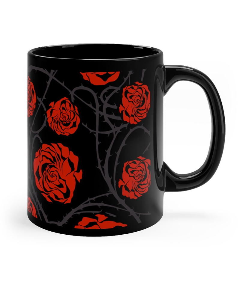 Alien Girl Black Mug