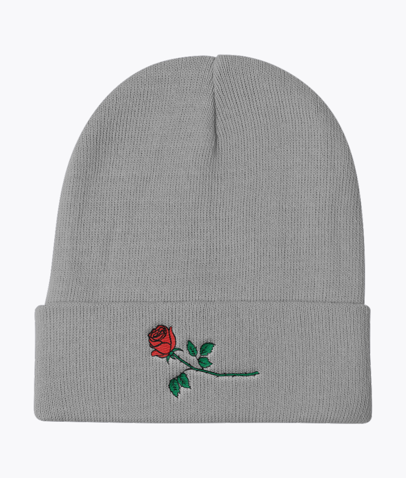 Red Rose Knit Beanie - Hipsters Wonderland - Tumblr Clothing - Tumblr Accessories- Aesthetic Clothing - Aesthetic Accessories - Hipster's Wonderland - Hipsterswonderland