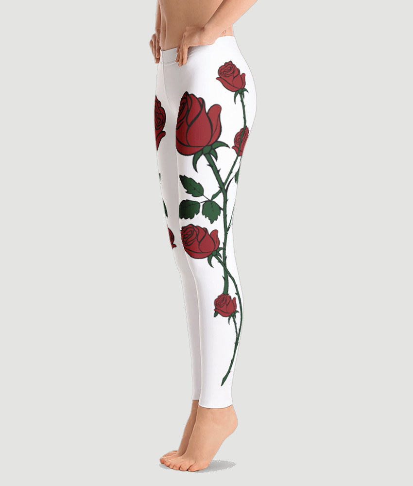 Red Roses Leggings - Hipsters Wonderland - Tumblr Clothing - Tumblr Accessories- Aesthetic Clothing - Aesthetic Accessories - Hipster's Wonderland - Hipsterswonderland