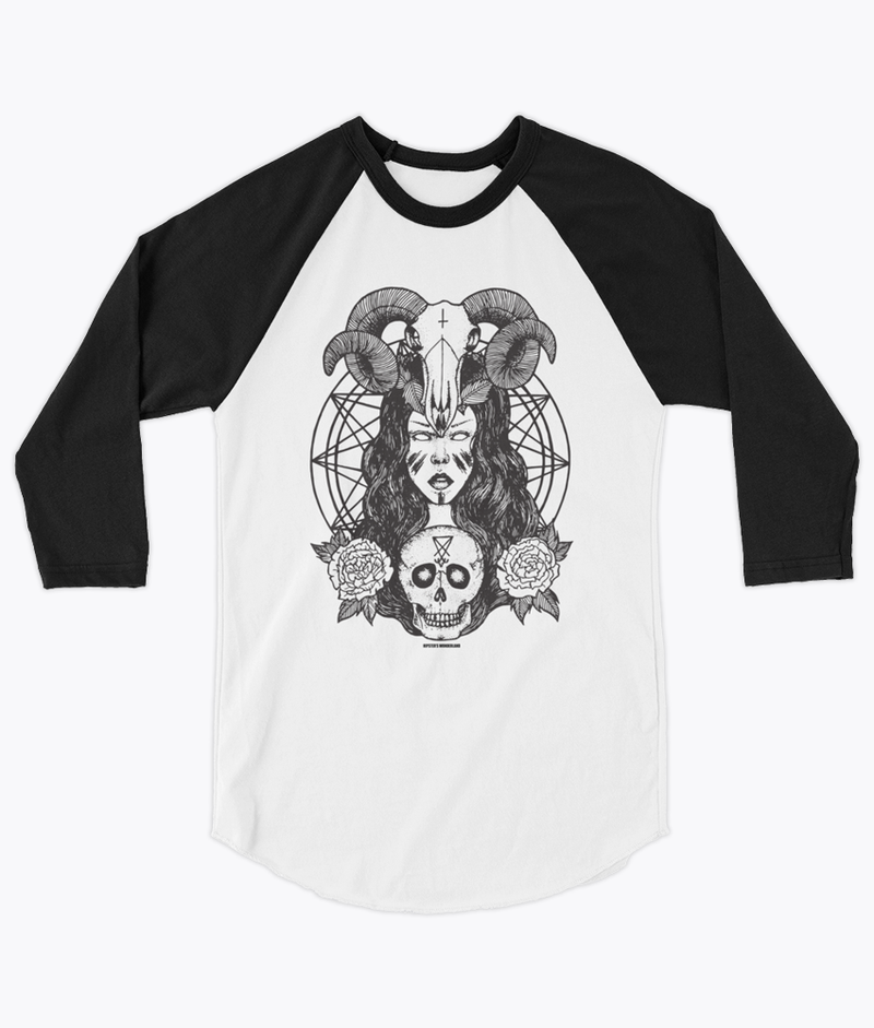 Satanic Princess Unisex Raglan - Hipsters Wonderland - Tumblr Clothing - Tumblr Accessories- Aesthetic Clothing - Aesthetic Accessories - Hipster's Wonderland - Hipsterswonderland