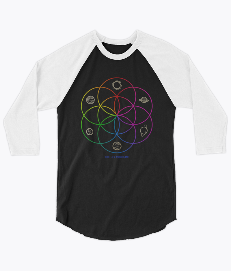 Seed of Life Unisex Raglan - Hipsters Wonderland - Tumblr Clothing - Tumblr Accessories- Aesthetic Clothing - Aesthetic Accessories - Hipster's Wonderland - Hipsterswonderland