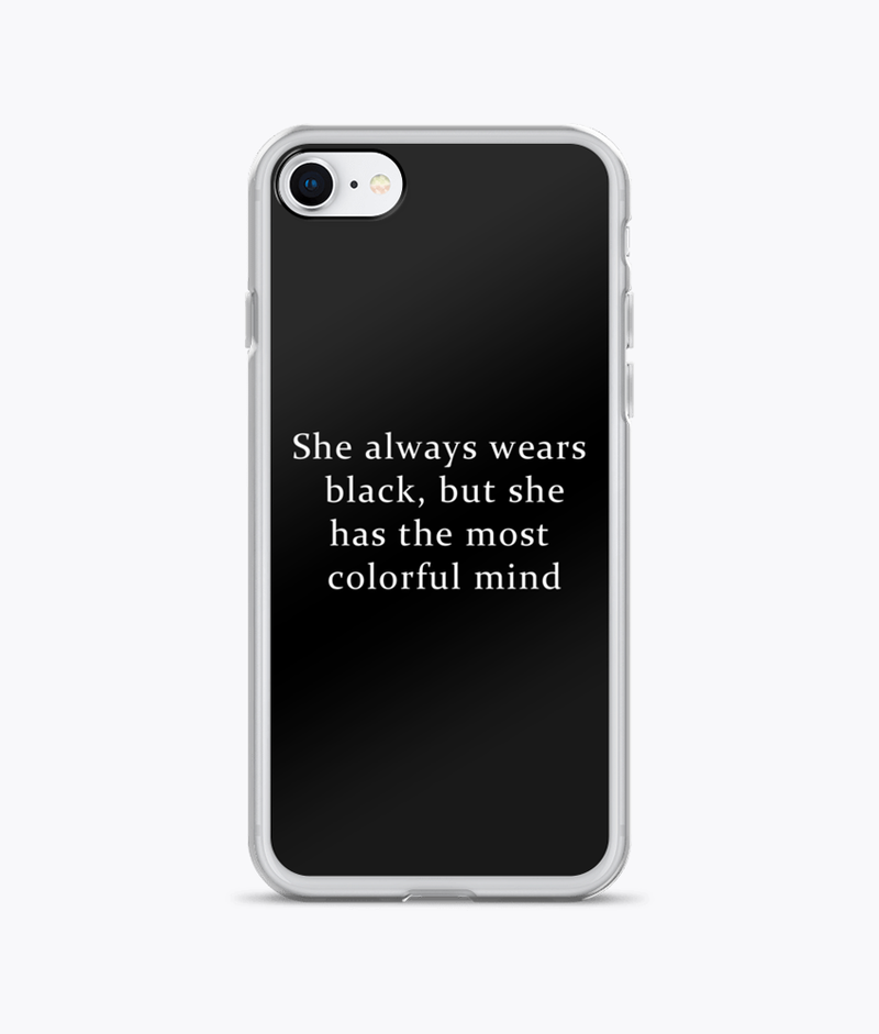 She Wears Black iPhone Cases - Hipsters Wonderland - Tumblr Clothing - Tumblr Accessories- Aesthetic Clothing - Aesthetic Accessories - Hipster's Wonderland - Hipsterswonderland