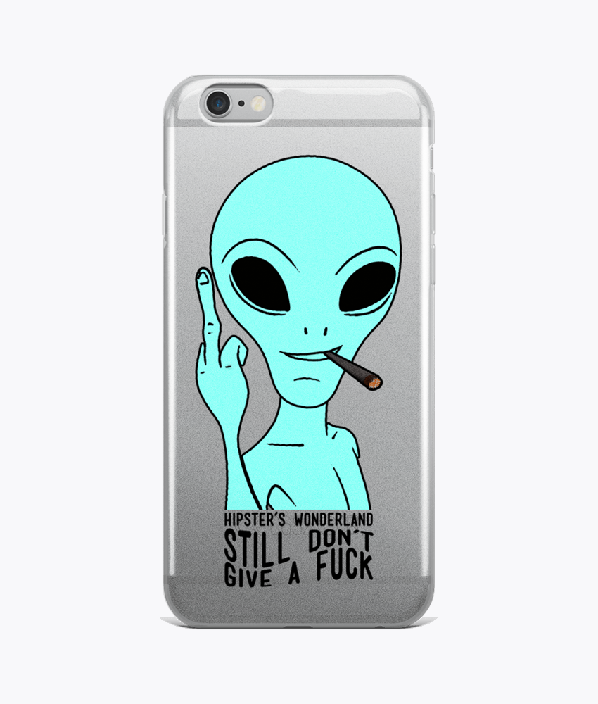 Still Alien Clear iPhone Cases - Hipsters Wonderland - Tumblr Clothing - Tumblr Accessories- Aesthetic Clothing - Aesthetic Accessories - Hipster's Wonderland - Hipsterswonderland