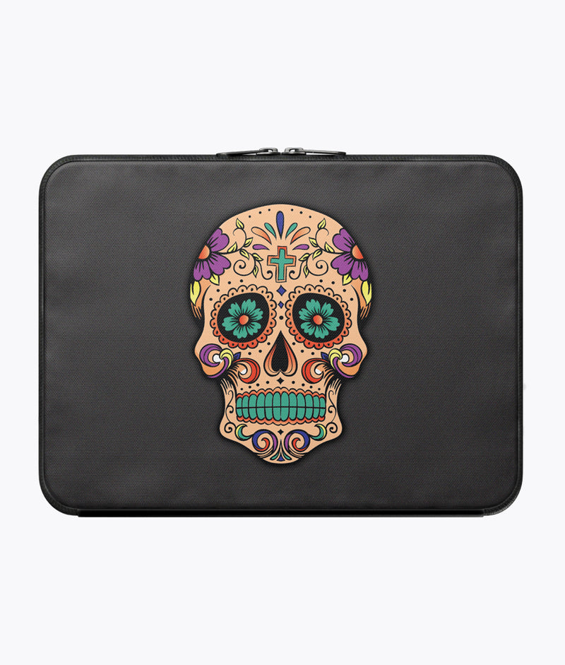 Sugar Skull Laptop Sleeve - Hipsters Wonderland - Tumblr Clothing - Tumblr Accessories- Aesthetic Clothing - Aesthetic Accessories - Hipster's Wonderland - Hipsterswonderland