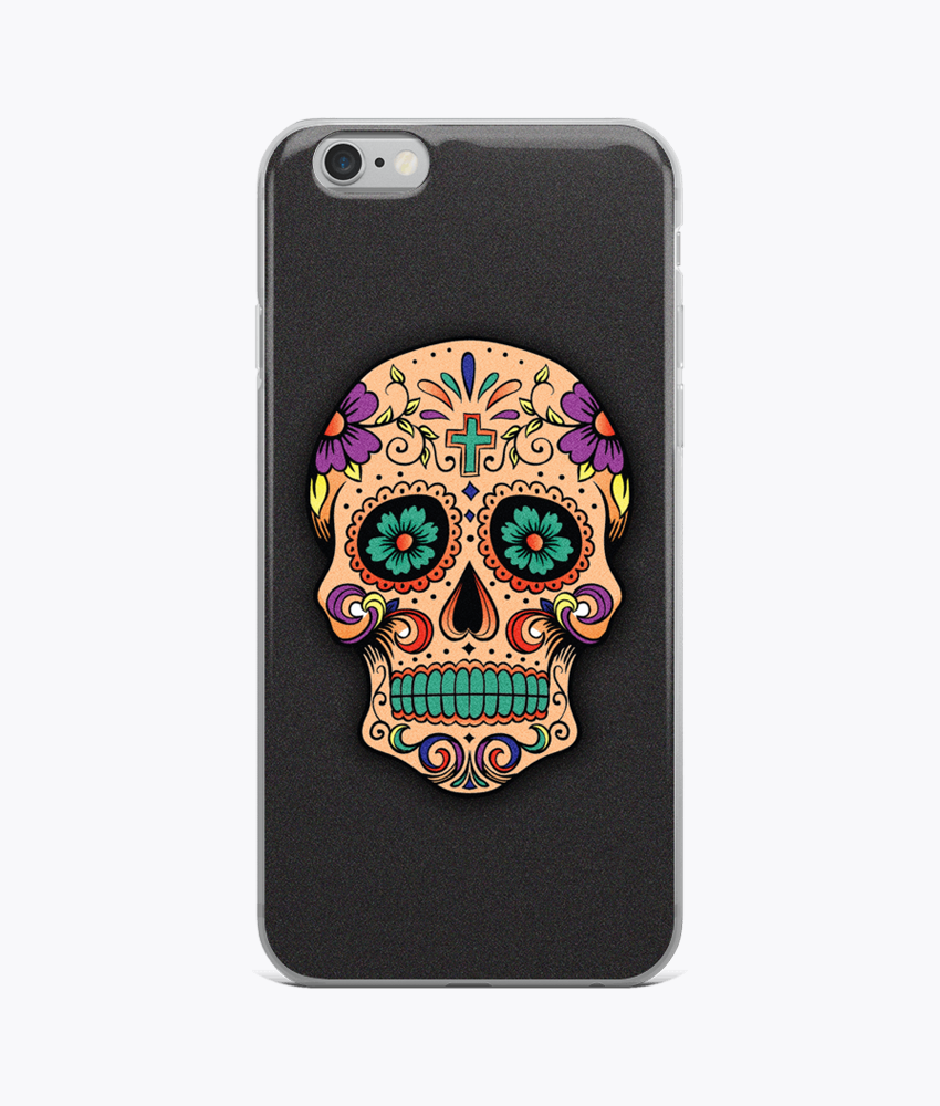 Sugar Skull iPhone Cases - Hipsters Wonderland - Tumblr Clothing - Tumblr Accessories- Aesthetic Clothing - Aesthetic Accessories - Hipster's Wonderland - Hipsterswonderland
