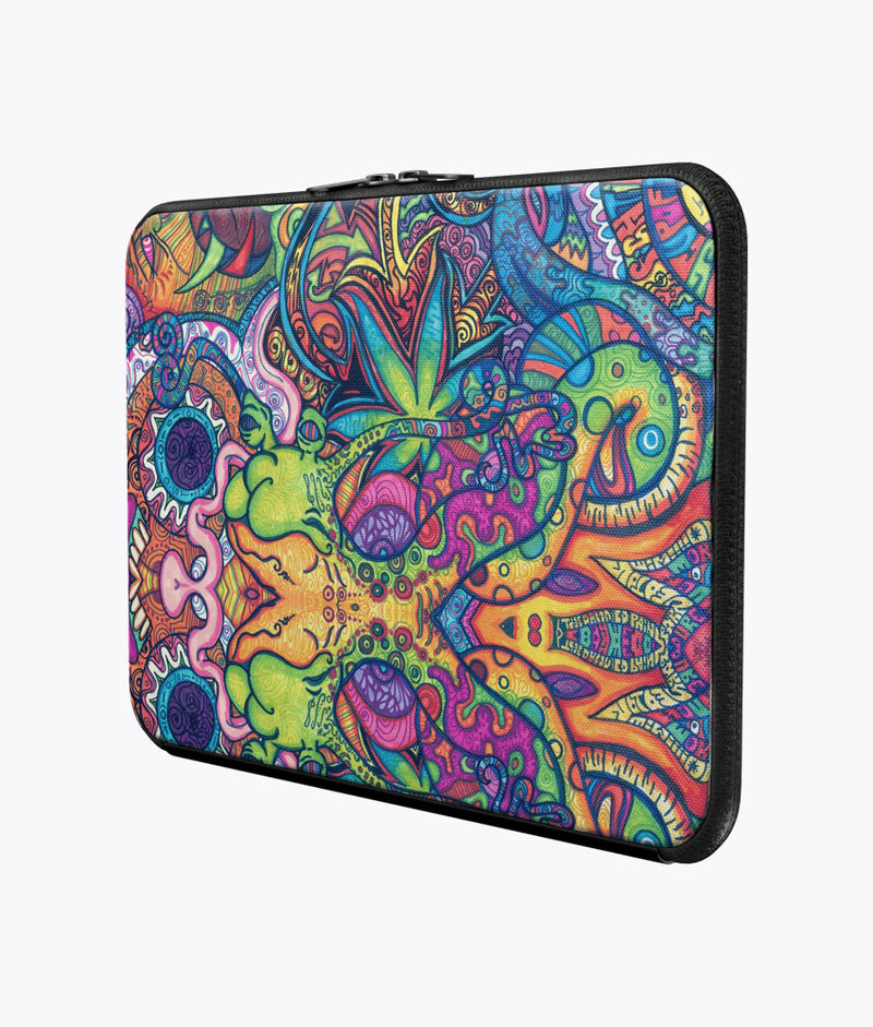 Trippy Weed Laptop Sleeve - Hipsters Wonderland - Tumblr Clothing - Tumblr Accessories- Aesthetic Clothing - Aesthetic Accessories - Hipster's Wonderland - Hipsterswonderland
