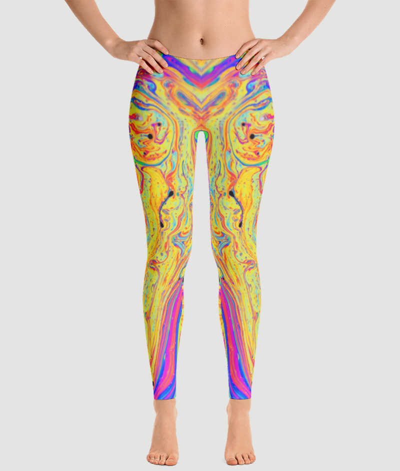 Planets Hand Drawn Leggings