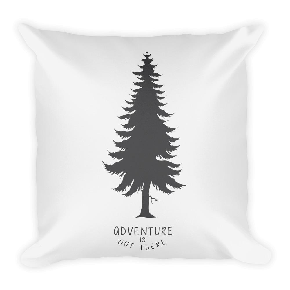 Adventure is out there (Black) Square Pillow - Hipsters Wonderland - Tumblr Clothing - Tumblr Accessories- Aesthetic Clothing - Aesthetic Accessories - Hipster's Wonderland - Hipsterswonderland