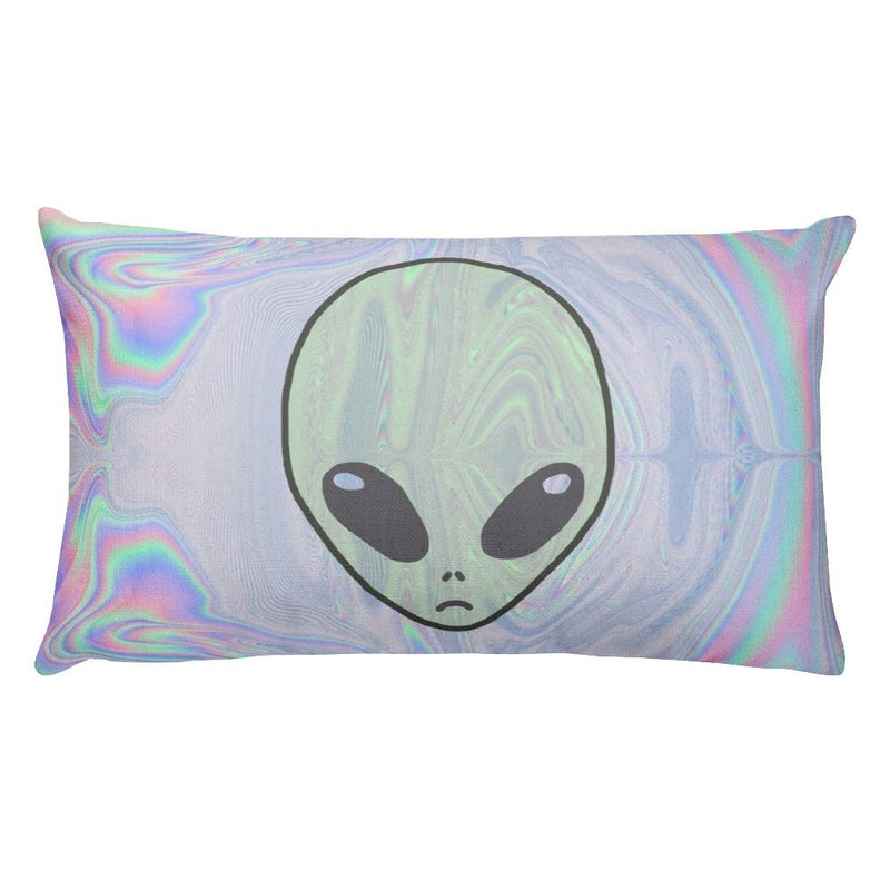 Alien Pastel Rectangular Pillow - Hipsters Wonderland - Tumblr Clothing - Tumblr Accessories- Aesthetic Clothing - Aesthetic Accessories - Hipster's Wonderland - Hipsterswonderland