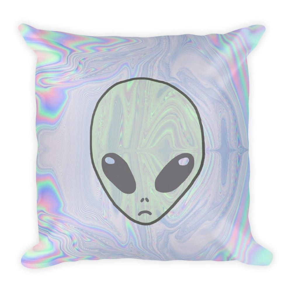 Alien Pastel Square Pillow - Hipsters Wonderland - Tumblr Clothing - Tumblr Accessories- Aesthetic Clothing - Aesthetic Accessories - Hipster's Wonderland - Hipsterswonderland
