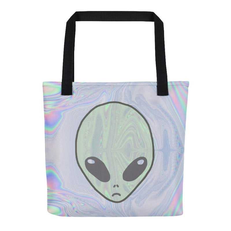 Alien Pastel Tote Bag - Hipsters Wonderland - Tumblr Clothing - Tumblr Accessories- Aesthetic Clothing - Aesthetic Accessories - Hipster's Wonderland - Hipsterswonderland