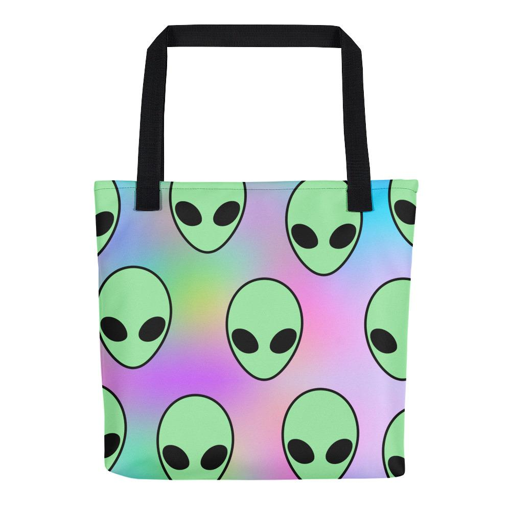 Aliens Tote Bag - Hipsters Wonderland - Tumblr Clothing - Tumblr Accessories- Aesthetic Clothing - Aesthetic Accessories - Hipster's Wonderland - Hipsterswonderland