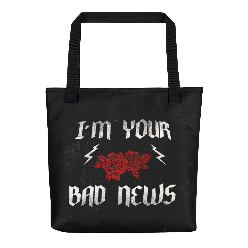 Bad News Tote Bag - Hipsters Wonderland - Tumblr Clothing - Tumblr Accessories- Aesthetic Clothing - Aesthetic Accessories - Hipster's Wonderland - Hipsterswonderland