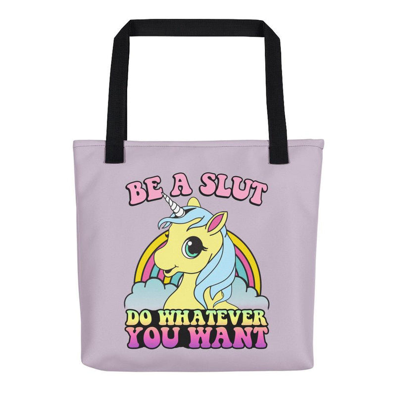 Be a Slut Tote Bag - Hipsters Wonderland - Tumblr Clothing - Tumblr Accessories- Aesthetic Clothing - Aesthetic Accessories - Hipster's Wonderland - Hipsterswonderland