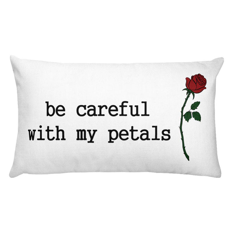 Be Careful Rectangular Pillow - Hipsters Wonderland - Tumblr Clothing - Tumblr Accessories- Aesthetic Clothing - Aesthetic Accessories - Hipster's Wonderland - Hipsterswonderland