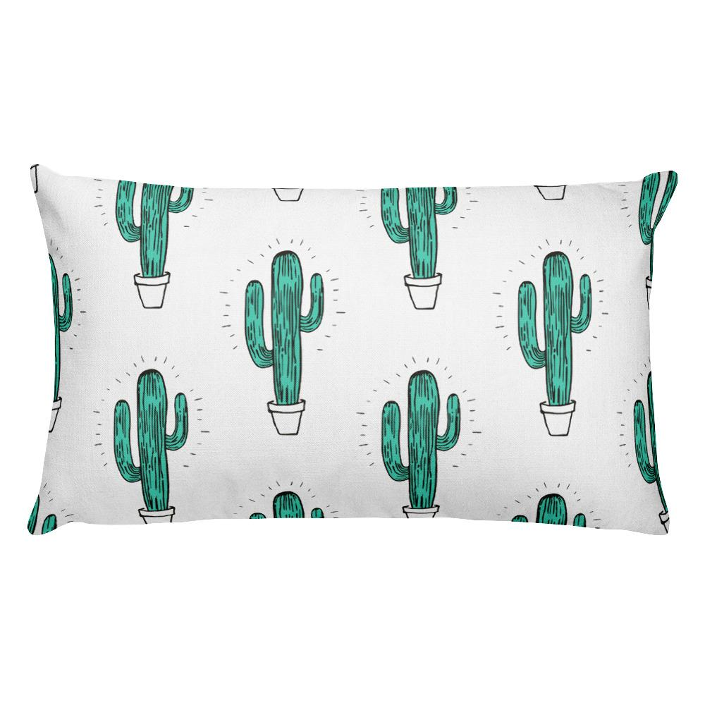 Cactus Rectangular Pillow - Hipsters Wonderland - Tumblr Clothing - Tumblr Accessories- Aesthetic Clothing - Aesthetic Accessories - Hipster's Wonderland - Hipsterswonderland