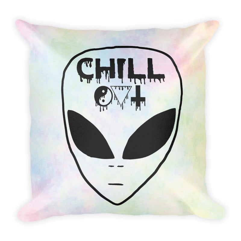Chill Out Square Pillow - Hipsters Wonderland - Tumblr Clothing - Tumblr Accessories- Aesthetic Clothing - Aesthetic Accessories - Hipster's Wonderland - Hipsterswonderland