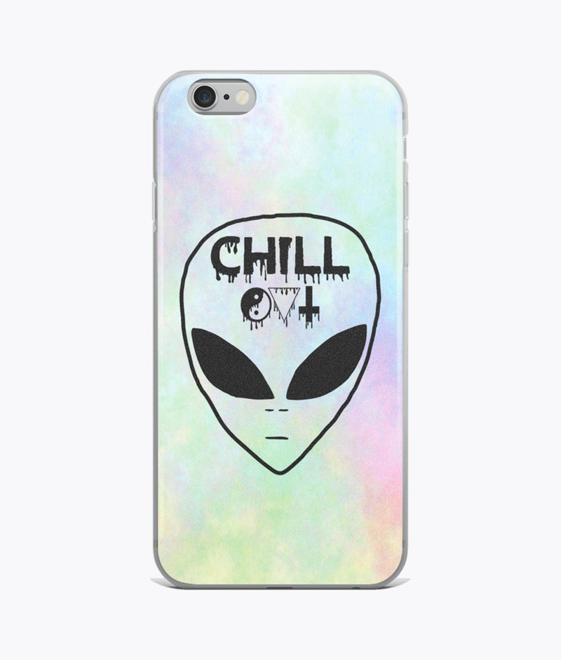 Chill Out Clear iPhone Case - Hipsters Wonderland - Tumblr Clothing - Tumblr Accessories- Aesthetic Clothing - Aesthetic Accessories - Hipster's Wonderland - Hipsterswonderland