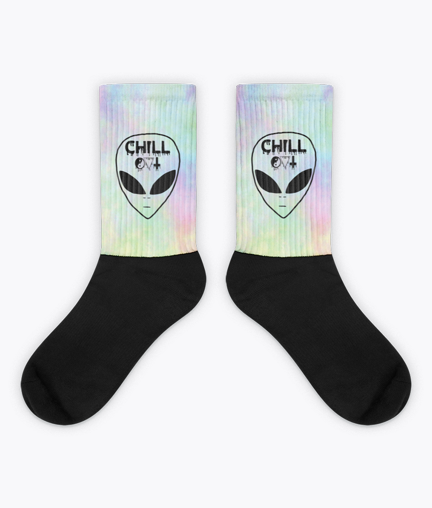 Chill Out Socks - Hipsters Wonderland - Tumblr Clothing - Tumblr Accessories- Aesthetic Clothing - Aesthetic Accessories - Hipster's Wonderland - Hipsterswonderland