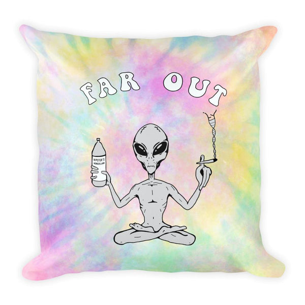 Far Out Alien Square Pillow - Hipsters Wonderland - Tumblr Clothing - Tumblr Accessories- Aesthetic Clothing - Aesthetic Accessories - Hipster's Wonderland - Hipsterswonderland