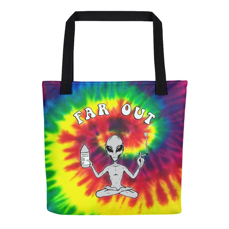 Far Out Alien (Tie Dye) Tote Bag - Hipsters Wonderland - Tumblr Clothing - Tumblr Accessories- Aesthetic Clothing - Aesthetic Accessories - Hipster's Wonderland - Hipsterswonderland