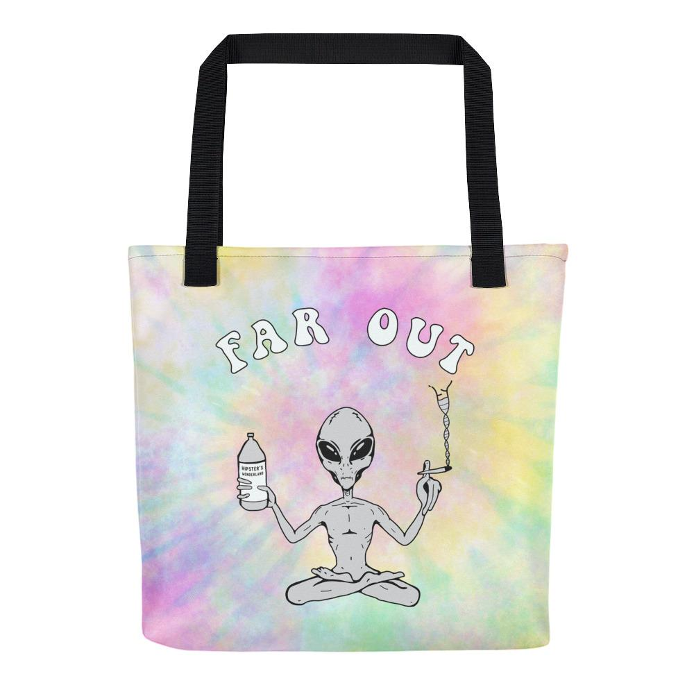 Far Out Alien Tote Bag - Hipsters Wonderland - Tumblr Clothing - Tumblr Accessories- Aesthetic Clothing - Aesthetic Accessories - Hipster's Wonderland - Hipsterswonderland