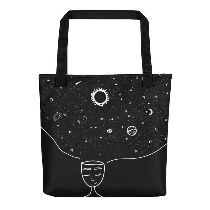 Galaxy in her Mind Tote Bag - Hipsters Wonderland - Tumblr Clothing - Tumblr Accessories- Aesthetic Clothing - Aesthetic Accessories - Hipster's Wonderland - Hipsterswonderland