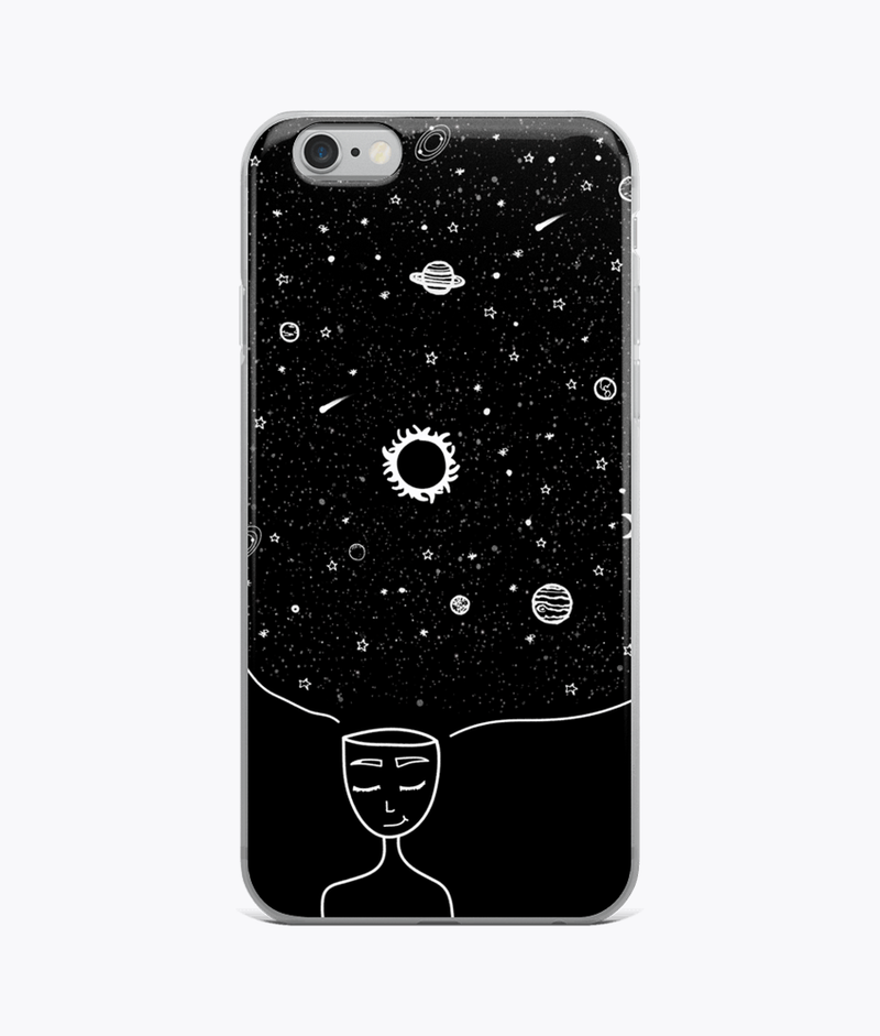 Galaxy in her Mind Clear iPhone Case - Hipsters Wonderland - Tumblr Clothing - Tumblr Accessories- Aesthetic Clothing - Aesthetic Accessories - Hipster's Wonderland - Hipsterswonderland