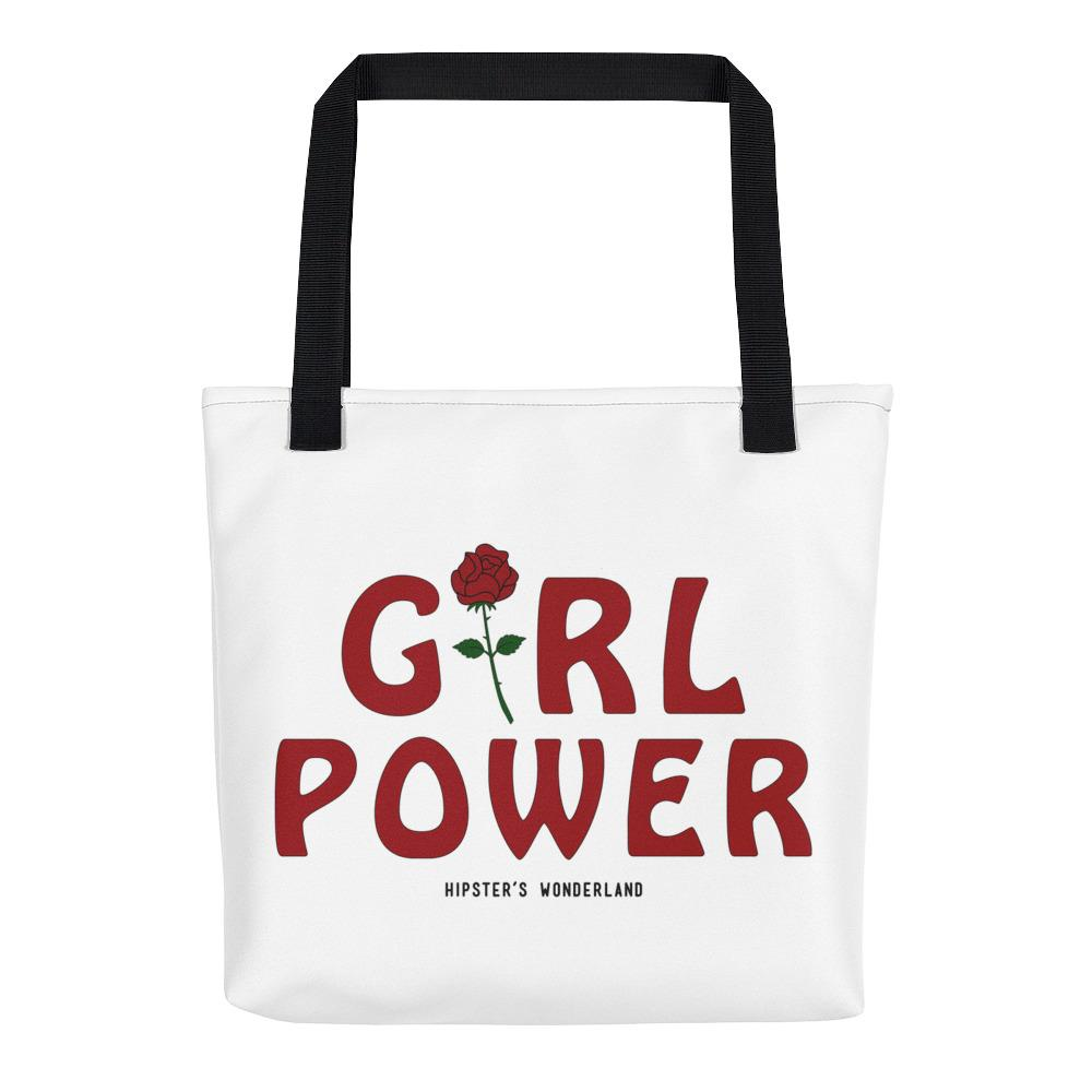 Girl Power Tote Bag - Hipsters Wonderland - Tumblr Clothing - Tumblr Accessories- Aesthetic Clothing - Aesthetic Accessories - Hipster's Wonderland - Hipsterswonderland