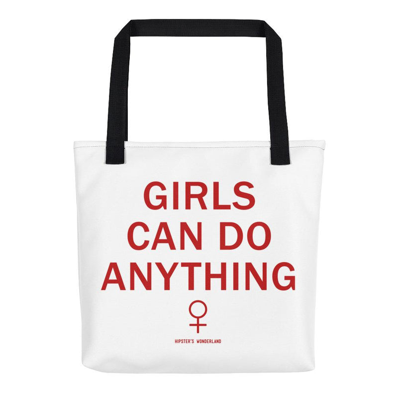 Girls Can Do Anything Tote Bag - Hipsters Wonderland - Tumblr Clothing - Tumblr Accessories- Aesthetic Clothing - Aesthetic Accessories - Hipster's Wonderland - Hipsterswonderland