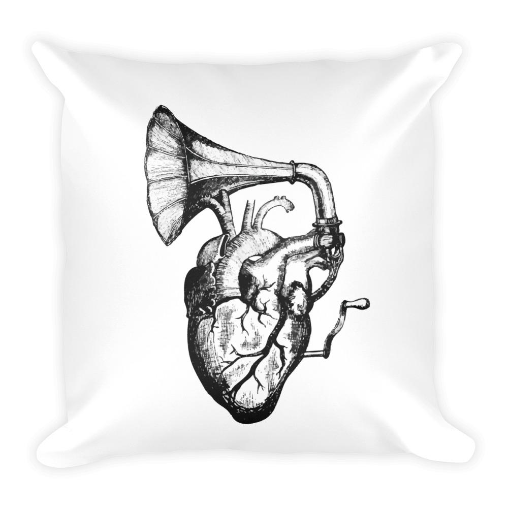 Heart Speaks Square Pillow - Hipsters Wonderland - Tumblr Clothing - Tumblr Accessories- Aesthetic Clothing - Aesthetic Accessories - Hipster's Wonderland - Hipsterswonderland