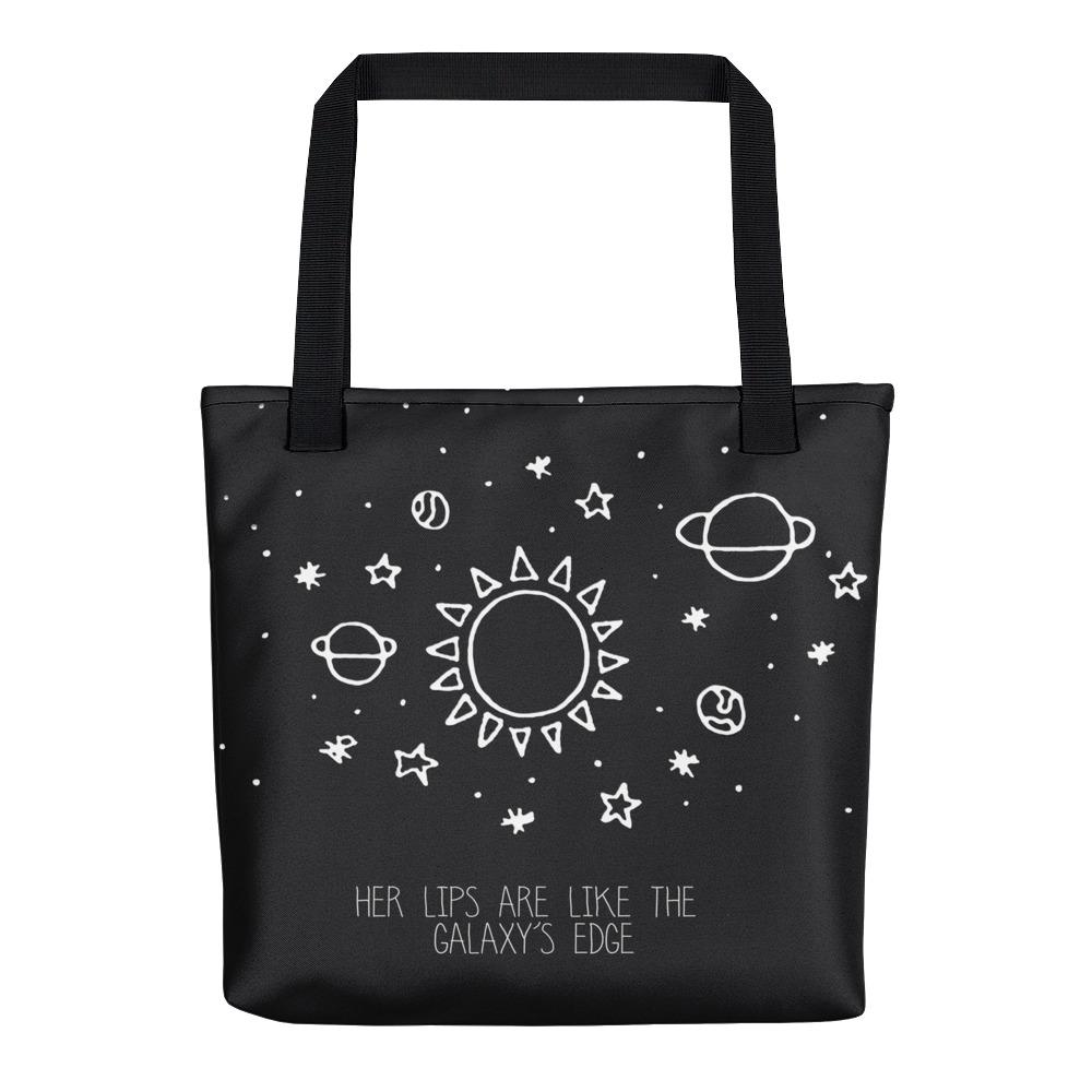 Her lips are like the Galaxy's edge Tote Bag - Hipsters Wonderland - Tumblr Clothing - Tumblr Accessories- Aesthetic Clothing - Aesthetic Accessories - Hipster's Wonderland - Hipsterswonderland