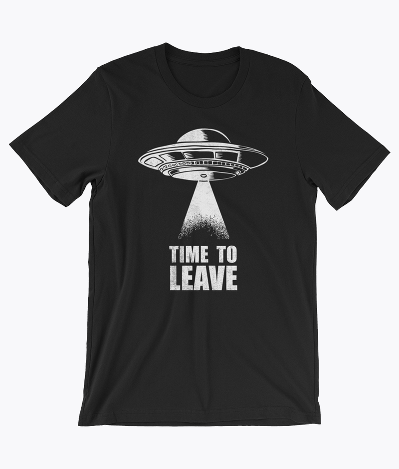 Time To Leave T-Shirt - Hipsters Wonderland - Tumblr Clothing - Tumblr Accessories- Aesthetic Clothing - Aesthetic Accessories - Hipster's Wonderland - Hipsterswonderland