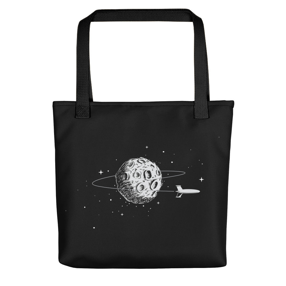 Leaving the Moon Tote Bag - Hipsters Wonderland - Tumblr Clothing - Tumblr Accessories- Aesthetic Clothing - Aesthetic Accessories - Hipster's Wonderland - Hipsterswonderland